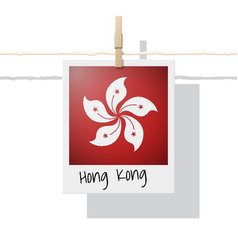 photo of hong kong flag on white background vector image