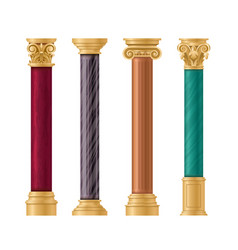 pillars set cartoon flat vector image