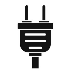 Plug icon simple style vector