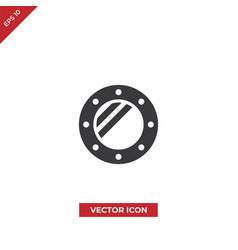 porthole icon vector image
