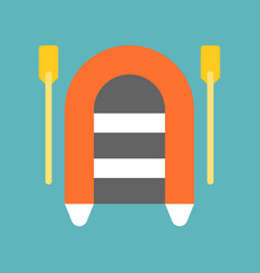 Rafting icon flat design about nautical vector