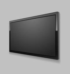 realistic detailed 3d led tv screen vector image
