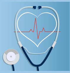 realistic stethoscope vector image