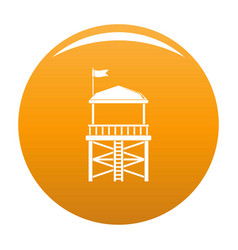 Rescue tower icon orange vector