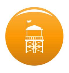 rescue tower icon orange vector image