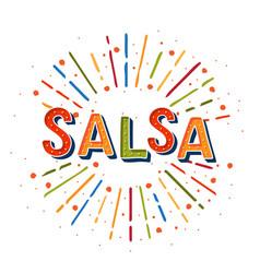 Salsa logotype coloflul sunshine elements poster vector