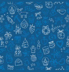 seamless background with winter elements vector image