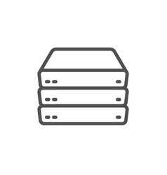Servers line icon pc component sign big data vector