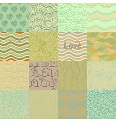 Set of retro colored seamless patterns vector