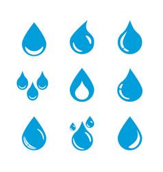 Set water drop icons vector