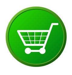 Shopping basket button vector