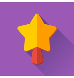 Simple Christmas star icon in flat style vector image