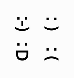 simple smiley face logo vector image
