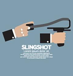 Slingshot In Hand vector image