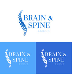 spine logo template vector image