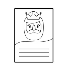 three kings of orient letter epiphany vector image