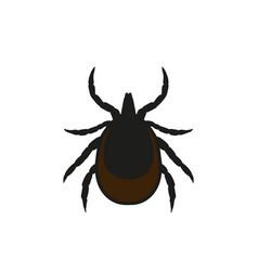 Ticks mite warning sign vector