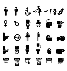 Toilet icons Bathroom vector