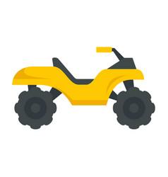 Top quad bike icon flat style vector