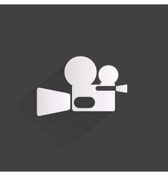 videocamera web icon flat design vector image