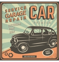 Vintage poster auto repair vector image