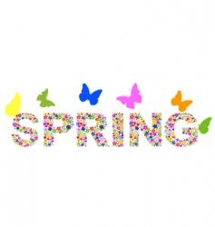 viragok spring vector image