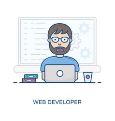 Web developer avatar vector