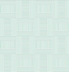 White 3D with colors green striped T shapes vector image