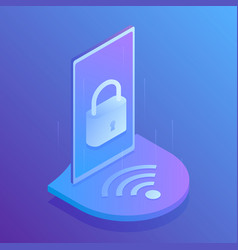 wifi security secure connection to wifi vector image