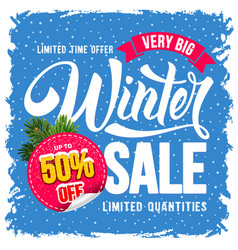 winter sale advertise design vector image