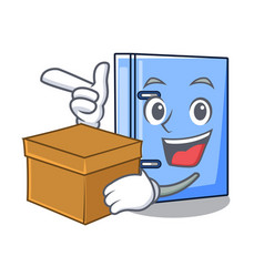 With box office binder with file character funny vector