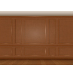 Wooden wall panel vector