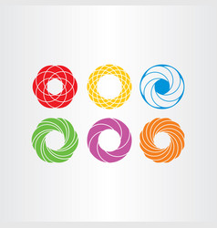abstract circle logo business icons set collection vector image vector image