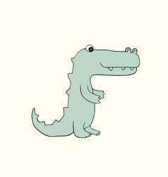 baby croc cartoon vector image