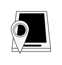 gps location pin with smartphone icon image vector image vector image