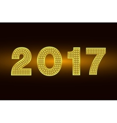 Happy New Year 2017 background Gold vector image