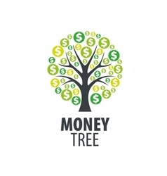 Logo money tree vector