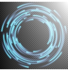 Glowing Blue rings trace EPS 10 vector image