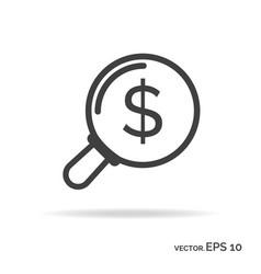 search money outline icon black color vector image