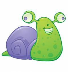 silly snail vector image