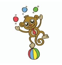 Funny monkey t-shirt design for kids vector image