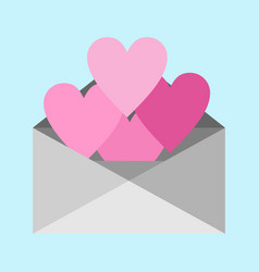 heart shape love letter graphic vector image