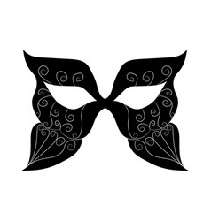 image of a black mask with patterns vector image