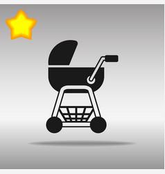 stroller black icon button logo symbol concept vector image vector image