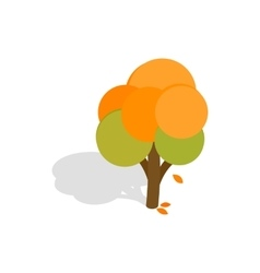 Autumn tree icon isometric 3d style vector image vector image