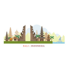 bali indonesia travel and attraction vector image vector image