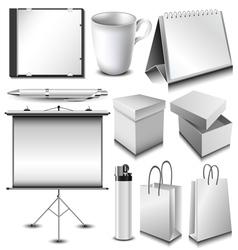 Blank corporate identity object set vector image