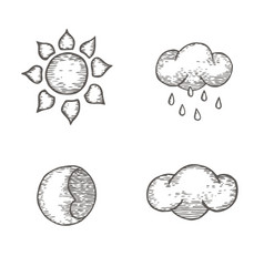 collection of metrological images vector image vector image