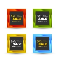 Colorful Big Sale tags vector image vector image