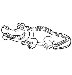 Crocodile outline vector image vector image